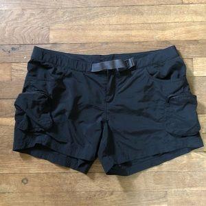 Columbia Black Hiking Shorts with Adjustable Belt